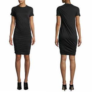 Theory Black Drape Knit Twist Dress Size Small